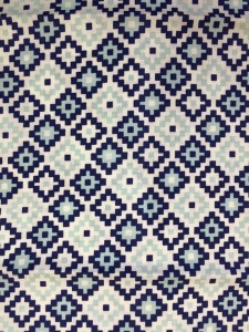 Blue Geometric Image