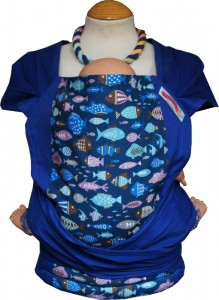 Pouchling Wrap Tai Blue Fishies